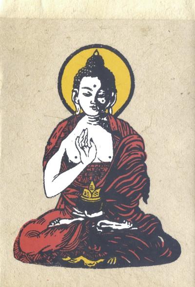 Открытка буддиста, открытки