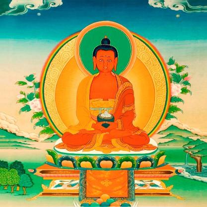 Купить Открытка Амитабха (13 x 13 см) в интернет-магазине Dharma.ru