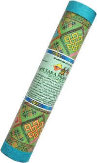 Благовоние Green Tara Prayer Incense, 25 палочек по 21 см.