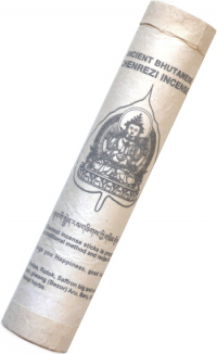 Ancient Bhutanese Chenrezi Incense (Древнее бутанское благовоние Ченрези), 19 палочек по 18,5 см.